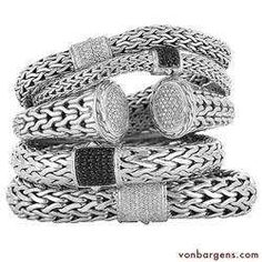 John Hardy bracelets.  They're like chips - you can't pick just one.