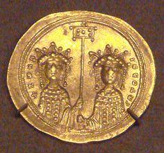 GoldHistamenonZoeAndTheodora1042 - Zoé Porfirogênita – Wikipédia, a enciclopédia…