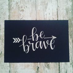 """""""#letteritfebruary #gellyroll #handlettering #handwriting #fauxcalligraphy #arrow #bebrave"""""""