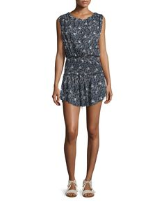Mila Printed Cotton Dress, Black - LoveShackFancy