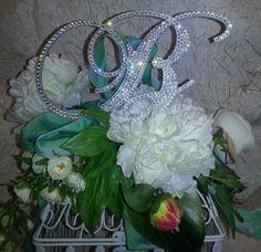 Bling Wedding Swarovski Crystal Cake Topper Monogram 6''  Any by OCsparkles, $79.95