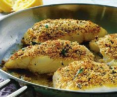 Low FODMAP Recipe - Lemon, herb & Parmesan crusted fish: http://www.ibssano.com/low_fodmap_recipe_lemon_herb_fish.html