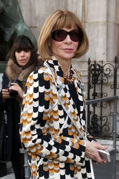 Anna Wintour - Anna Wintour at Paris Fashion Week