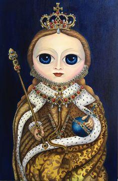 Elizabeth I, 2018 Óleo sobre tela 60x90cm