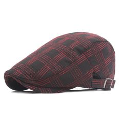 Fasbys Englad Style Classic Plaid Berets Caps For Men Women Casual Unisex Plaid Caps Cotton Berets Hats Boina Casquette Flat Cap