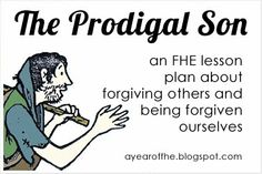 THE PRODIGAL SON free fhe lesson plan. Plus TONS more F.H.E. lessons.  She has them organized by month with a theme for each month and a new song to learn each month.  So cool!