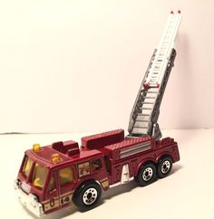 1982 Matchbox Fire Engine extending ladder Diecast metal toy scale 1/64 1290 EA. #Matchbox #matchbox