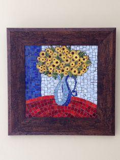Sunflowers in pot Mosaic art