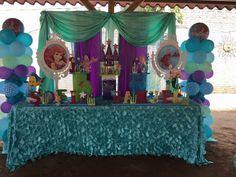 Decoracion la sirenita Little Mermaid Birthday, Little Mermaid Parties, 4th Birthday Parties, 1st Birthday Girls, Birthday Ideas, Kids Party Themes, Party Ideas, Mermaid Baby Showers, Mermaid Tails