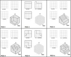 16 best isometric drawing exercises images isometric drawing exercises technical drawings 3d. Black Bedroom Furniture Sets. Home Design Ideas