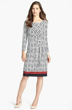 Anne Klein Tie Front Wicker Print Dress (Regular & Petite) available at #Nordstrom