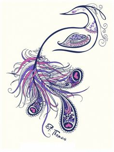 Peacock Tattoo - Very Cool Style An Altered Version Of This Would Be A Perfect Tattoo For Me! | See more about peacock tattoo, paisley tattoos and tattoo designs.