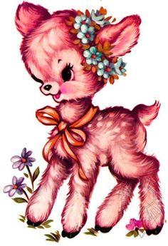 Cute!vintage deer
