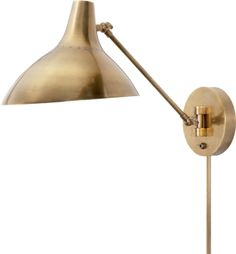 """CHARLTON WALL LIGHT Height: 7 1/2"""" - 14 1/2"""" Width: 9 1/4"""" Extension: 12"""" - 19"""" Backplate: 5 1/4"""" Round Wattage: 1 - 60 Watt Type A Socket: Keyless with Toggle on Backplate"""