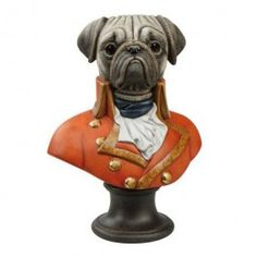 "Goebel - Thierry Poncelet - Governor of the Colonies - Porcelain bust (Limited Edition 250 pcs.) - Porcelain bust ""Governor of the Colonies"" from the series ""Ancestral Dog Portraits"" by Thierry Poncelet. Limited Edition 250 pieces with certificate. Height: 30 cm."