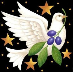 Holiday Dove ~ by Stephanie Stouffer