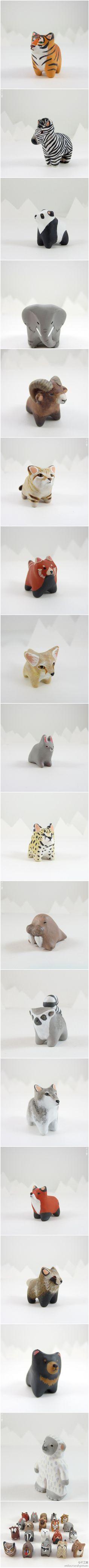 看多了同样风格的东东会腻么?比如我们介绍过的Danielle Pedersen的软陶小动物(http://weibo.com/1699336787/xlYYei4as),就和Sabina与Ryan店里的(http://weibo.com/1699336787/y1iTUB2Y4)几乎一模一样。当然如果还没看够,Danielle又带了新作品,一群更胖,更Q的小动物..WITH THE RIGHT SHAPED ROCKS YOU COULD MAKE ANIMALS LIKE THIS!