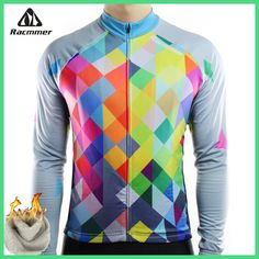 Racmmer Warm 2018 Pro Winter Thermal Fleece Cycling Jersey Ropa Ciclismo Mtb Long Sleeve Men Bike Wear Clothing Maillot #ZR-19