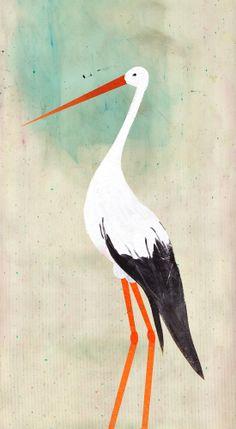 The Stork 2 by Carmen Saldana