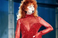 Reba's famous red dress could be your Halloween costume.