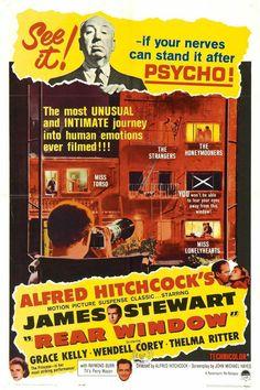 Alfred Hitchcock's Rear Window (1954) starring James Stewart & Grace Kelly