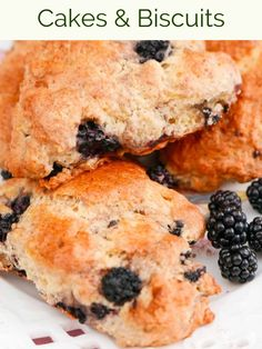 What better way to spend a late summer's day than blackberrying, then making Blackberry Scones to enjoy with a cup of tea? Blackberry Scones, Strawberry Rhubarb Jam, Blackberry Recipes, Passion Fruit Cake, Fresh Fruit Cake, Fruit Cakes, Savory Scones, Dutch Oven Cooking, New Cake