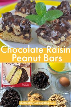 Craving Chocolate Peanut Butter Bars with Yellow Cake Mix
