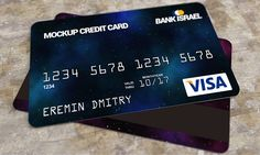 Credit card mockup free PSD on Behance