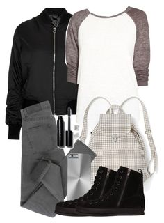 """""""Liam Inspired Outfit"""" by veterization ❤ liked on Polyvore featuring Topshop, Treasure & Bond, BAGGU, Cheap Monday, Ann Demeulemeester, T Tahari and Bobbi Brown Cosmetics"""