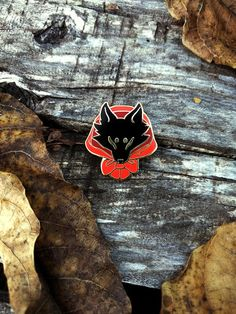 Red Wolf enamel pin PREORDER