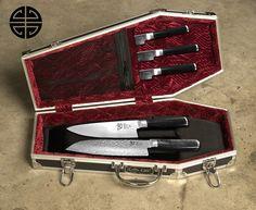 Coffin kitchen knives case