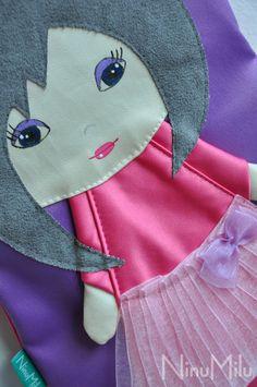 NinuMilu - torebki lalki - handbag dolls for girls: Eteryczna Koral