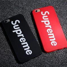 ブランドシュプリーム supreme iPhone8/7s/7 plus/6s ソフトケース シンプルスタイル TPU  製 白いアルファベットの模様 ペア物 マット素材 高品質
