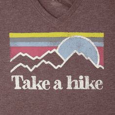 Women's Take A Hike Sunset Stripe Cool Vee
