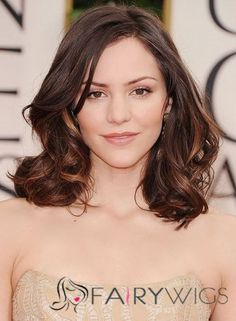 Pin for Later: The Clavicut — the Best Celebrity Midlength Hairstyles Katharine McPhee Hair chameleon Katharine McPhee often sports a midlength clavicut, and knows it's the perfect length to show off a strapless dress. Subtle Ombre Hair, Ombre Hair Color, Hair Colour, Blue Ombre, Clavicut, Medium Hair Styles, Short Hair Styles, Hair Medium, Ombré Hair