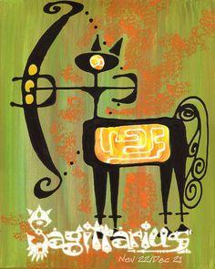Mike Hoffman Astrological Zodiac Art Print Poster SAGITTARIUS. $14.95, via Etsy.