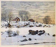 Reinhold Ljunggren (1920-2006): Snösmältning