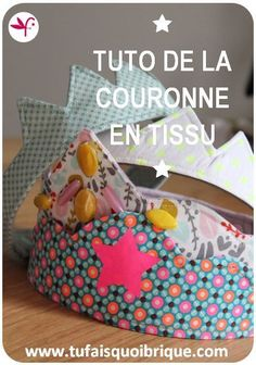 PATRON AND TUTO FREE to make this crown in fabric for child – What are you doing-brick mom? Coin Couture, Baby Couture, Couture Sewing, Sewing For Kids, Baby Sewing, Diy For Kids, Recycle Old Clothes, Sewing Online, Creation Couture