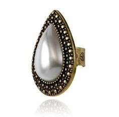 SAMANTHA WILLS - BOHEMIAN BARDOT RING - WHITE PEARL