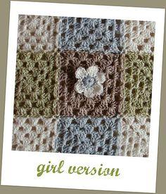 Plaid granny blanket  girl version