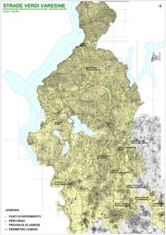 Strada Verde Varesina la mappa complete al 2011