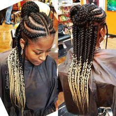 Perfection #protectivestyles #naturalhaircommunity #browardbraider #hair #myhaircrush #braidsonfleek #kinkychicks #hairdressermagic #haironfleek #hairlove #problack #trustgodbro #blessedhands #blondehair #ombrehair #bookme #bookstagram #boss #bossgirlscertified #bosslady #melanin #naturallyshesdope #neatbraids #braidsgang #braids #hairextension #melaninrich African Braids Hairstyles, Twist Hairstyles, Protective Hairstyles, Protective Styles, Ombré Hair, Hair Dos, Natural Hair Tips, Natural Hair Styles, Curled Hair With Braid