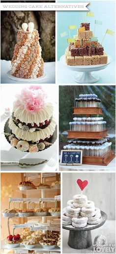 Wedding cake alternatives Wouldn't it be Lovely   I'm really digging the idea of a doughnut cake! :)