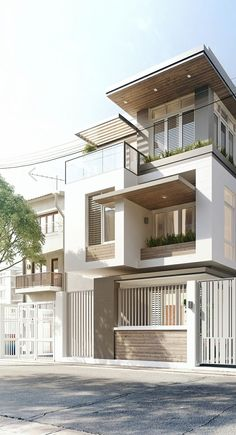 Modern house. I like the size and material under the eaves. It is really white really modern simple shape will change not like a strait building. It fits me really well #RealEstateBuzz