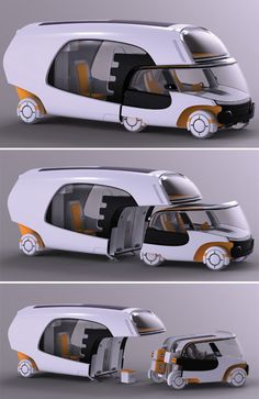 "Christian Susana | ""Colim (Colors of Life in Motion)"" car and camper concept - when and if this is ever produced, I WANT ONE."