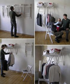 CREATIVE IDEA: DY Chair Hanger.  How many ways can you use it?