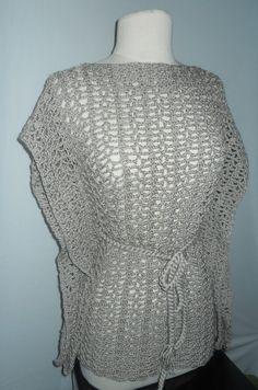 Tunica a crochet para poner con camiceta abajo.