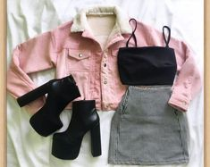 - Edgy Outfits - Source by mandyanwendt Fashion outfits Teen Fashion Outfits, Cute Fashion, Look Fashion, Outfits For Teens, Korean Fashion, Summer Outfits, Girl Outfits, Unique Fashion, Fashion Ideas