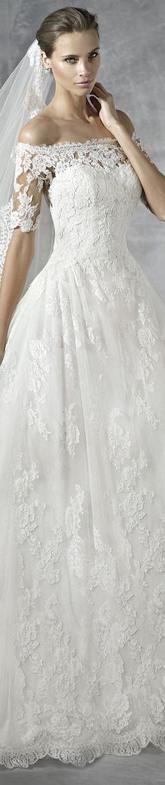 PRONOVIAS BRIDAL GOWNS 2016 PLEASANT WEDDING DRESS