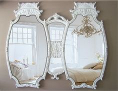Antique Double Mirror, Room size Mirror, White Baroque Mirror. $998.00, via Etsy. love this!